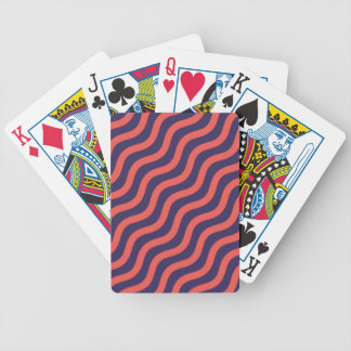 Abstract geometric wave pattern bicycle playing cards