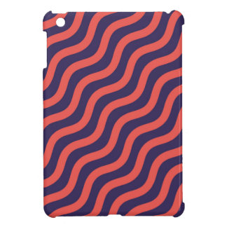 Abstract geometric wave pattern cover for the iPad mini