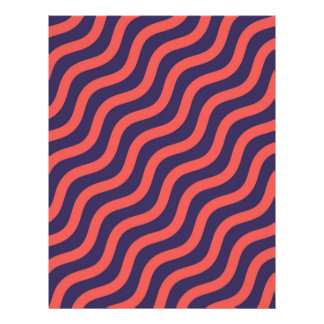 Abstract geometric wave pattern letterhead