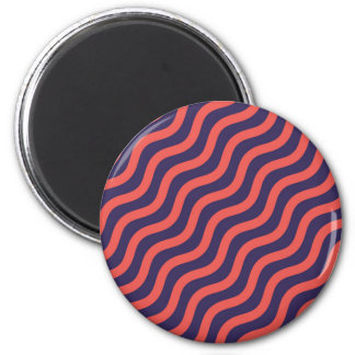 Abstract geometric wave pattern magnet