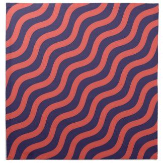 Abstract geometric wave pattern napkin