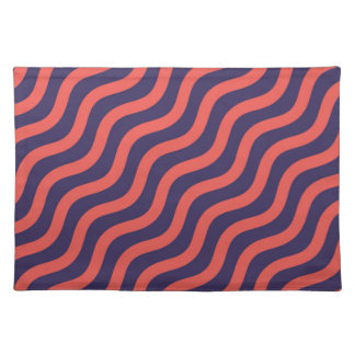 Abstract geometric wave pattern placemat
