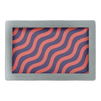 Abstract geometric wave pattern rectangular belt buckle