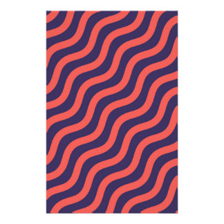 Abstract geometric wave pattern stationery