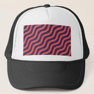 Abstract geometric wave pattern trucker hat