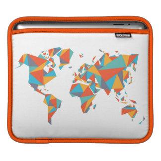 Abstract Geometric World Map iPad Sleeve