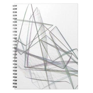 Abstract Geometrical Design Spiral Notebook