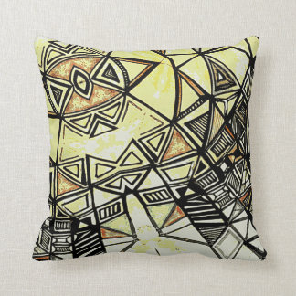 ABSTRACT GEOMETRICAL PRINTED COTTON CUSHIONS
