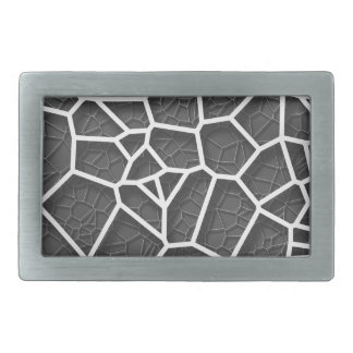 Abstract geometrical science concept voronoi low p belt buckle