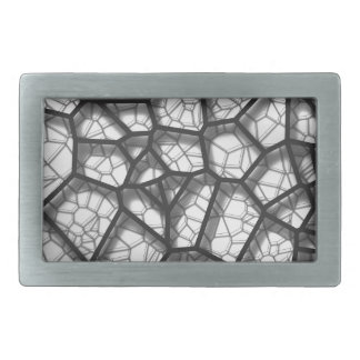 Abstract geometrical science concept voronoi low p belt buckles