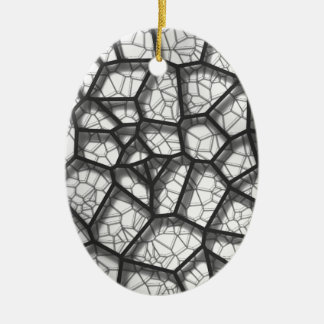 Abstract geometrical science concept voronoi low p ceramic ornament