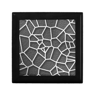 Abstract geometrical science concept voronoi low p gift box