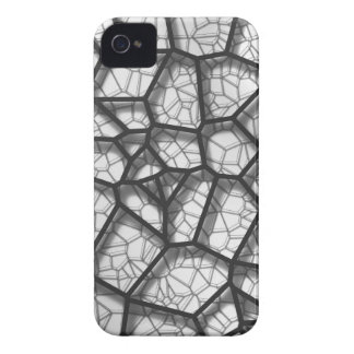 Abstract geometrical science concept voronoi low p iPhone 4 cases