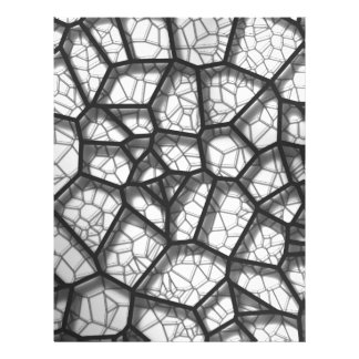 Abstract geometrical science concept voronoi low p letterhead