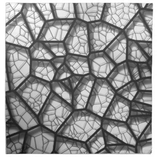 Abstract geometrical science concept voronoi low p napkin