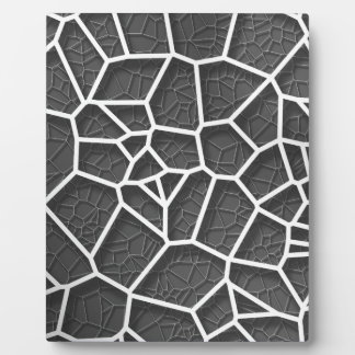 Abstract geometrical science concept voronoi low p plaque
