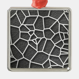 Abstract geometrical science concept voronoi low p Silver-Colored square ornament