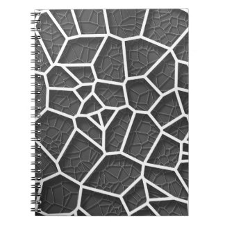 Abstract geometrical science concept voronoi low p spiral notebook
