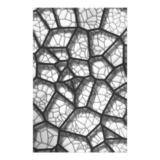 Abstract geometrical science concept voronoi low p stationery