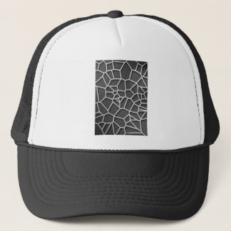 Abstract geometrical science concept voronoi low p trucker hat