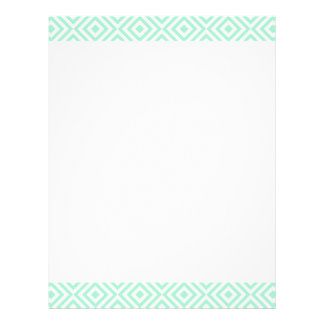 Abstract geometrical squares pattern, mint green letterhead template