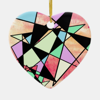 ABSTRACT GEOMETRY CERAMIC ORNAMENT