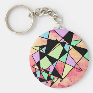 ABSTRACT GEOMETRY KEYCHAIN