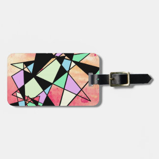 ABSTRACT GEOMETRY LUGGAGE TAG