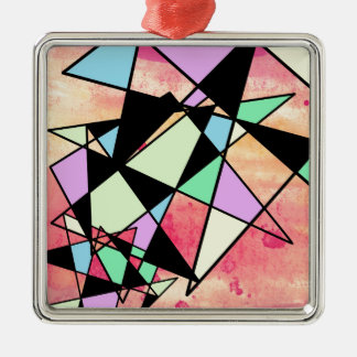 ABSTRACT GEOMETRY METAL ORNAMENT
