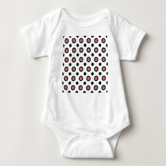 abstract geometry pattern baby bodysuit
