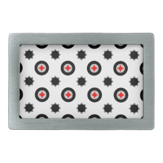 abstract geometry pattern belt buckle