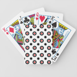 abstract geometry pattern bicycle playing cards