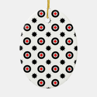 abstract geometry pattern ceramic ornament