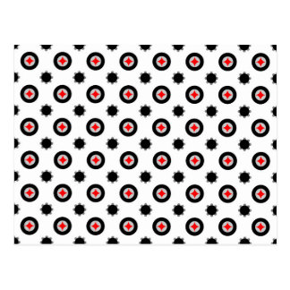 abstract geometry pattern postcard