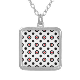 abstract geometry pattern silver plated necklace