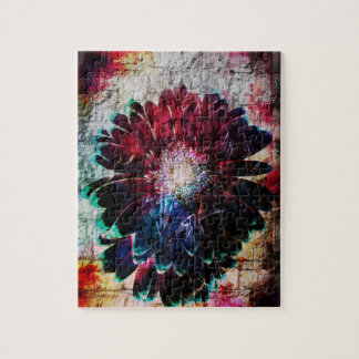 Abstract Gerbera Daisy Jigsaw Puzzle