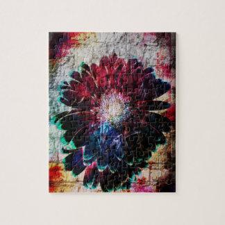 Abstract Gerbera Daisy Puzzles