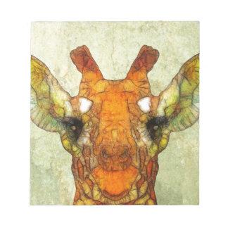 abstract giraffe notepad