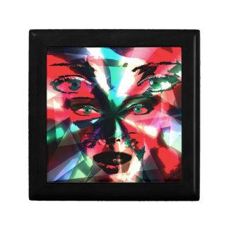 Abstract girl gift box
