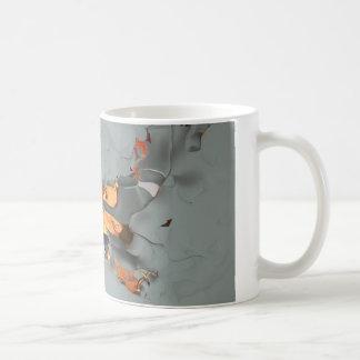 Abstract girl basic white mug