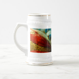 Abstract Glass 18 Oz Beer Stein