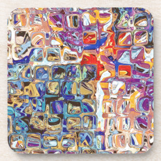 Abstract Glass Blocks Drink Coaster