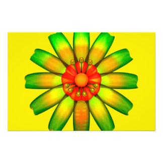 Abstract Glass Flower Art Photo