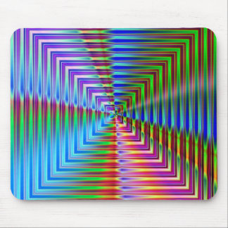 Abstract Glass Squares Mouse Pad