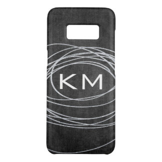 Abstract Glitter Scribble with Monogram Case-Mate Samsung Galaxy S8 Case