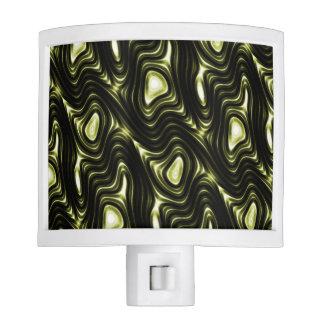 Abstract Glowing Dark Green Alien Pattern Nite Light