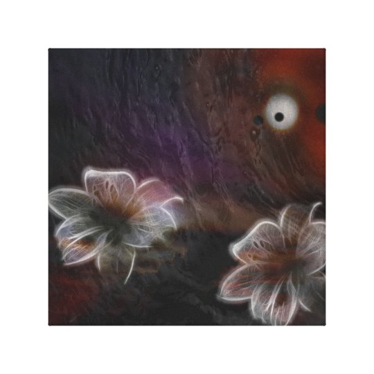 Abstract Glowing Flowers Canvas Print