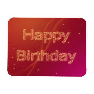 Abstract Glowing Happy Birthday - Flexible Magnet