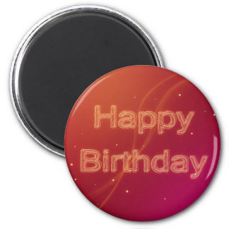 Abstract Glowing Happy Birthday - Magnet