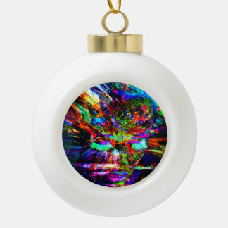 Abstract Goddess Ceramic Ball Christmas Ornament